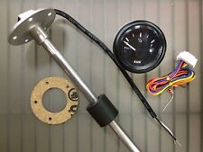 "WATER TANK GAUGE METER AND SENDER 16/"" STAINLESS WEMA KUS UPWR-WW WHITE RIM"