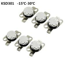 2pcs Temperature Switch Bimetal Head Thermostat KSD301 NO 35℃-160℃ Auto Operate
