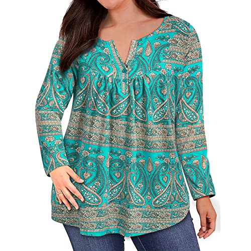 Fulbelle Womens Plus Size 3//4 Rolled Sleeve Zipped Casual Blouse Tops XL-4XL