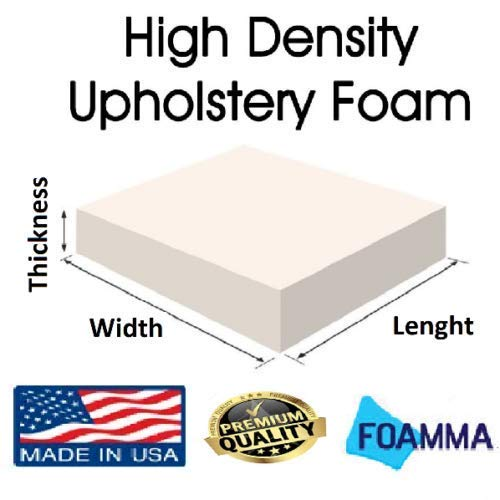 Firm GoTo Foam 2 Height x 24 Width x 84 Length 44ILD Upholstery Cushion Made in USA