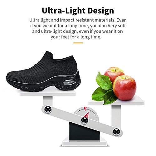 d8e26b45d5b8c Buy Belilent Womens Walking Shoes - Slip on Sneaker Socks Platform ...