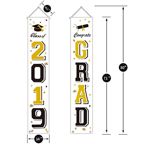 Hanging Flags Banners Outdoor Home Door Dcor 2019 Graduation Party Decorations