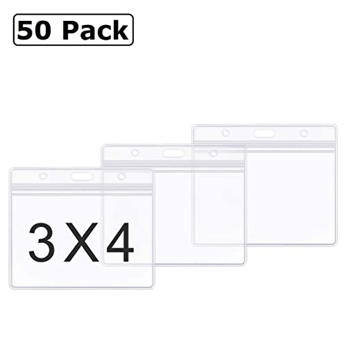 Pack Bulk Metal Clips with Clear Vinyl Straps for ID Name Tag badge Holder