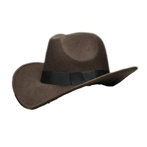 ASO-SLING Unisex Straw Western Cowboy Hat Hollow Out Outback Wide Brim Cattleman Hat