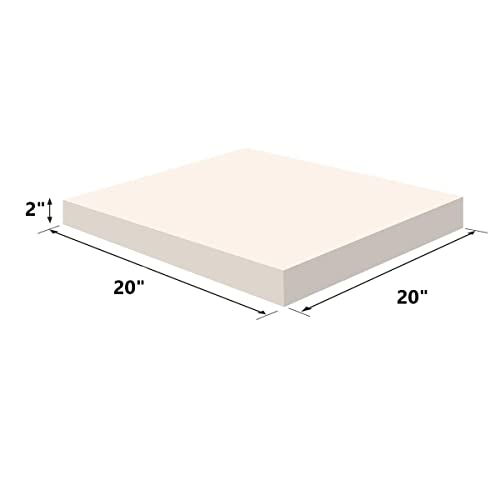 1-Pack FOAMMA 5 x 20 x 20 HD Upholstery Foam High Density Foam Chair Cushion Square Foam for Dinning Chairs, Wheelchair Seat Cushion Replacement