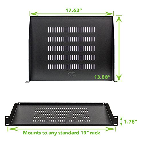 "Cantilever Server Shelf Vented Shelves Rack Mount 19/"" 1U 10/"" 250mm Deep"