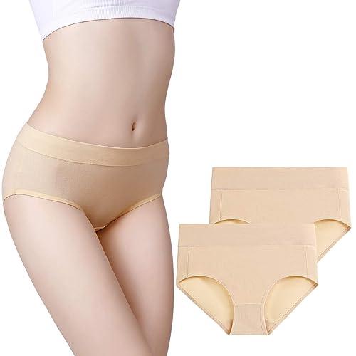 932b5bb0ca3e Buy wirarpa Women's Cotton Stretch Underwear Soft Mid Rise Briefs ...