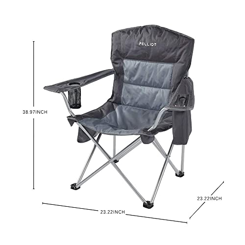 URPRO Outdoor Ultralight Portable Folding Chairs with Carry Bag Heavy Duty 145kgs Capacity Collapsible Chair Camping Folding Chairs Beach Chairs CC5954-B
