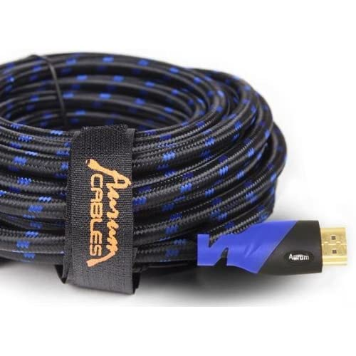 50 Ft - 50 Feet With Ethernet- Supports 3D /& Audio Return Channel Aurum Ultra Series Latest Version High Speed HDMI Cable