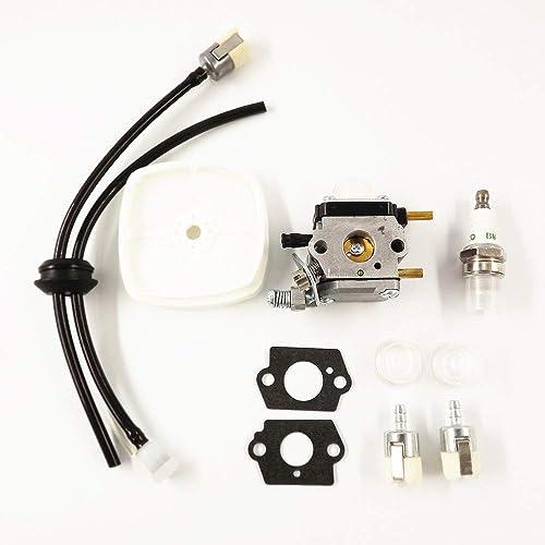 Tiller Fuel Line Parts Carb Carburator 2 Cycle Mantis w// Air Filter Repower Kit