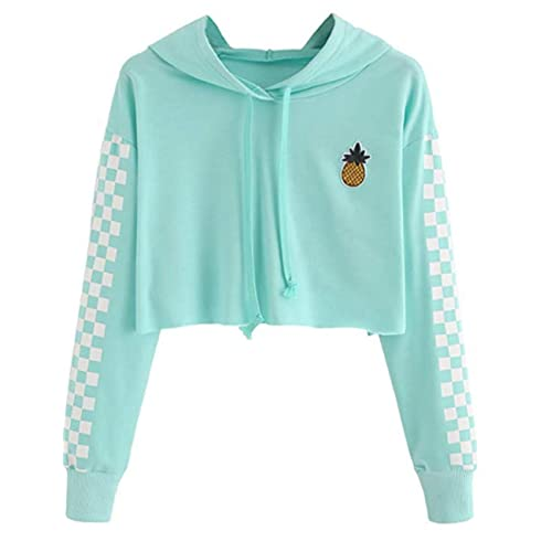Cute Sweatshirts for Teen Girls USA American Flag Jacket Crop Top Cropped Hoodie Pullover Jumper Sweater Tops