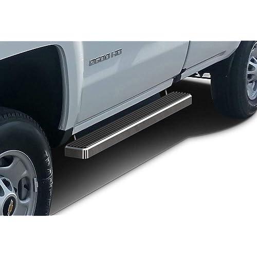"Premium 4/"" Black iBoard Side Steps Fit 07-18 Silverado//Sierra Double Cab"