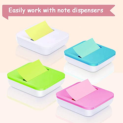 Total 1680 Pads 6 Bright Colors 24 Pads//Pack 2X Sticking Power Self-Stick Pads Sticky Notes 3x3 Inch Self-Stick Notes 70 Sheets//Pad