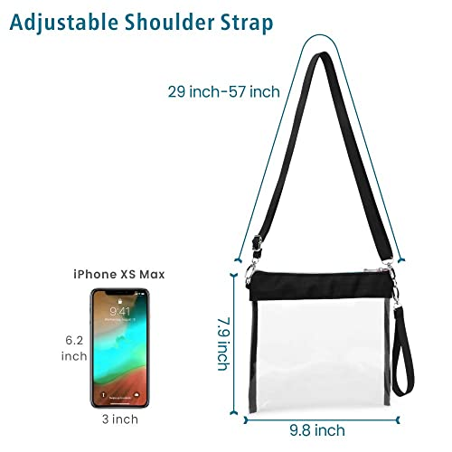 cfe06ad0390d Buy F-color Clear Purse, Clear Bag Stadium Approved with Wrist Strap ...
