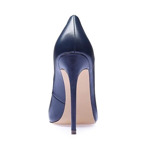 d691c67ed0971 Buy SUNETEDANCE Women's Slip-on Pumps High Heels Pointy Toe Sexy ...