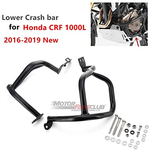 Upper Lower Engine Guard Crash Bars Kit For Honda Africa Twin CRF1000L 2016-2018 by MOTORFANSCLUB