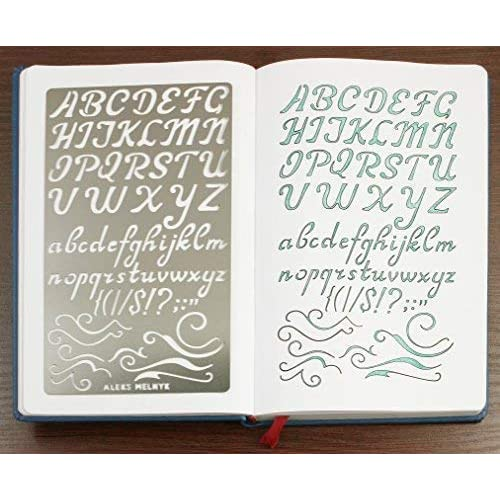 Aleks Melnyk #34 Metal Journal Stencils//Alphabet Letter Number ABC//Stainless 3