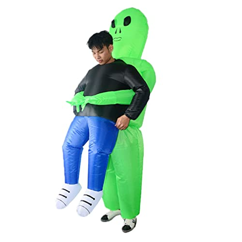 SIREN SUE A Ghost Hug Inflatable Costume for Halloween Show Fancy Dress Cosplay Blow Up for Adult Green