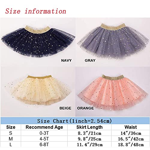 GOODTECK Newborn Infant Baby Girls Professional 3 Layers Dance Tutu Tulle Skirt