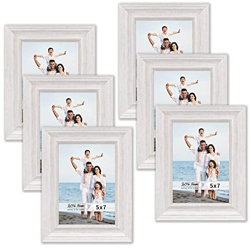 5x7 Picture Frame Photo Frame White for Table Top Display and Wall Hanging