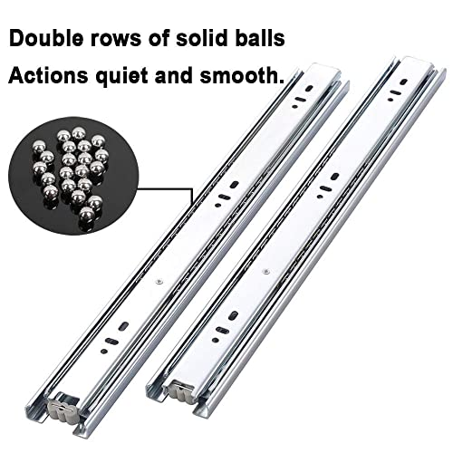 16/'/' Mounting Screws Included Cuaulans 10 Pair 12 Full Extension Side Mount Ball Bearing Sliding Drawer Slides 18/'/' Available in 10/'/' 14/'/' 20/'/' and 22 Lengths 12/'/'