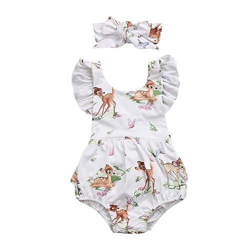 Headband 2pcs Costume StylesILove Baby Girl Snow Princess Romper Dress 6-24M