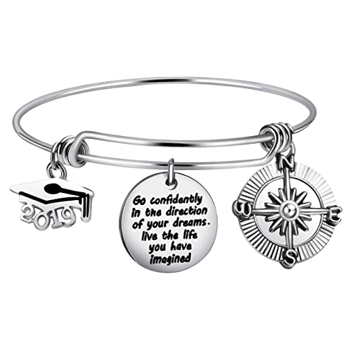 Feraco Engravable Bracelet-She Believed She Could So She Did Personalized Inspirational Bangle