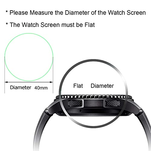 5da675afba99a Buy FINENIC【3 Pack】 Universal Round Watch Screen Protector ...