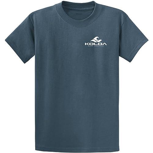 Koloa Surf Classic Wave Logo Cotton T-Shirt-4X-Large,Maroon//w