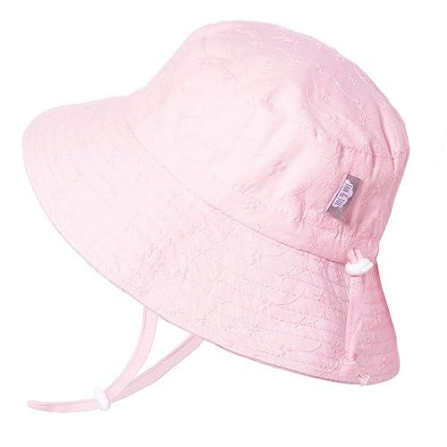 Kids Jan /& Jul Baby Sun-Hat Adjustable Chin-Strap Toddler Girls Wide Brim 50+ UPF Cotton