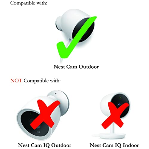 1 Pack, White Colorful Silicone Skins Compatible with Nest Cam IQ Outdoor Security Camera; Camouflage and Accessorize Your Camera Nest Cam IQ Outdoor Skin by Wasserstein