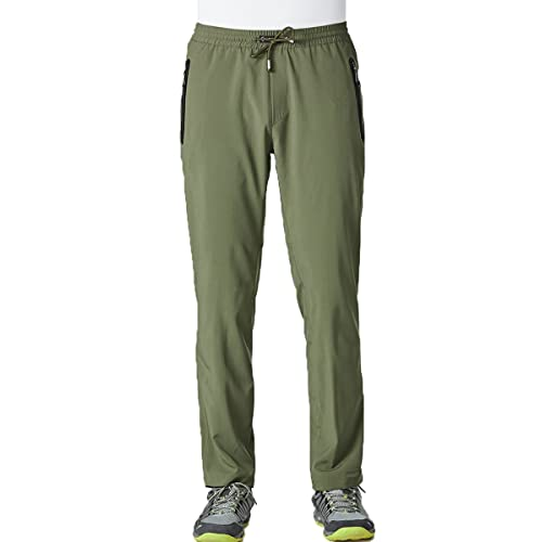 Gopune Mens Lightweight Breathable Casual Hiking Running Pants Outdoor Sports Quick Dry Trousers