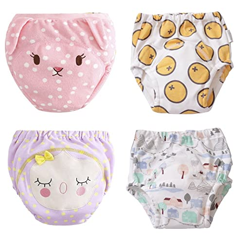 Max Shape Baby Toddler Cotton Training Pants 6 Layers Potty Training Underwear 4 Pack 12M-4T