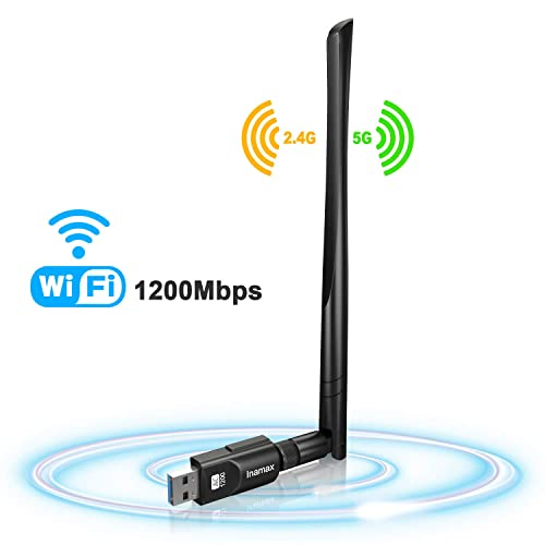 USB WiFi Adapter AC600Mbps Dual Band 2.4G//5G for Laptop Win10//8//7//Vista//XP//2000