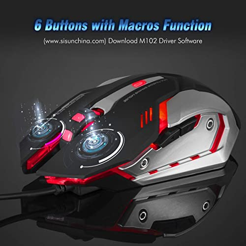 fbf96fe89dc Buy LINGYI Gaming Mouse, 6 Programmable Buttons, 4 Adjustable DPI ...
