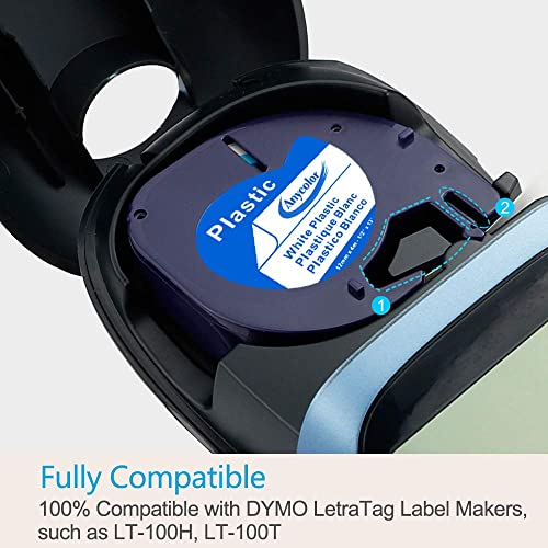 4-Pack Replace DYMO LetraTag Refills Clear Transparent Label Tape Compatible ...