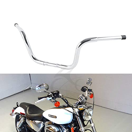 XFMT Black Drag Handlebar 1 Z Bars Compatible with Harley Custom Bobber Softail Dyna Sportster