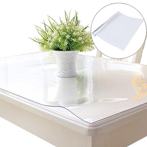 Non-Slip Wipe Clean Desk pad 50 x 70 cm Transparent Crystal Clear Desk pad