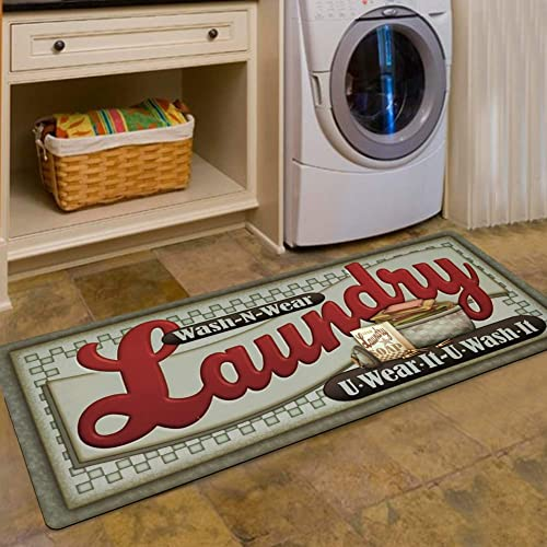 Ustide Loads Of Fun Rug For Laundry Room Nonslip Rubber