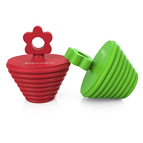 New tifanso 2 Pack Silicone Tub Stopper Recyclable Bathtub Drain Stopper Upgr..