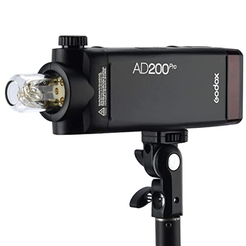Godox AD200Pro 200ws TTL 2.4G 1//8000 HSS 500 Full Power Flash Speedlite with Godox H200R Round Head AK-R1 Accessories Kit