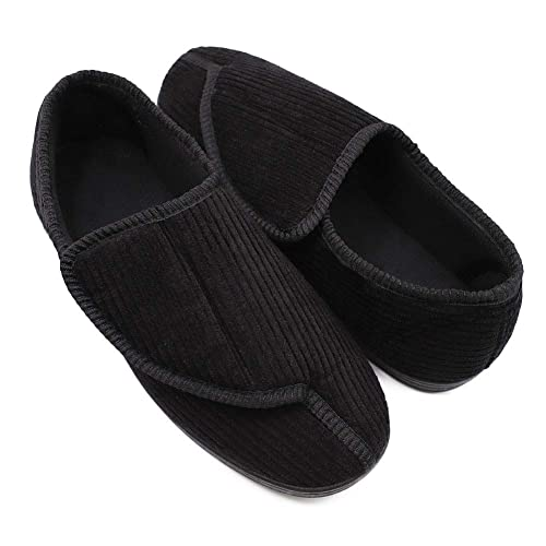 bde95be1f744e Buy Mens Diabetic Slippers Extra Wide Memory Foam Comfort House ...