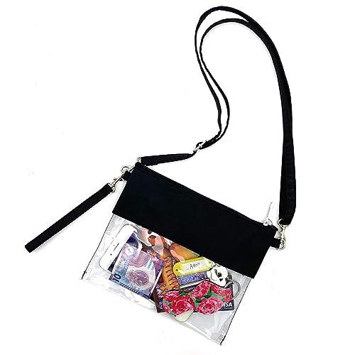 21e13ae51793 Buy VIEEL Clear Tote Bag - Adjustable Cross-Body Strap Bag, NFL ...