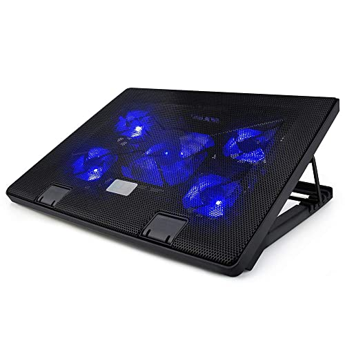 Lingsfire Laptop Cooling Fan 12 19inch Portable Laptop Cooler Cooling Pad Chill Mat For Gaming Laptop 5 Quiet Fans Adjustable Stands And 2 Usb Ports Black Buy Products Online With Ubuy Hong
