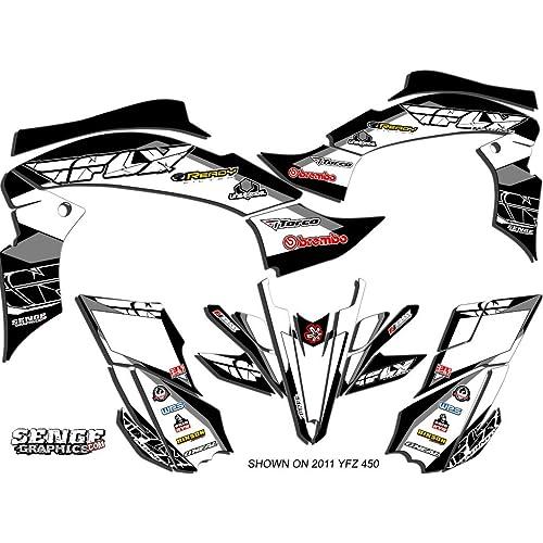 Senge Graphics kit compatible with Yamaha 2013-2019 Raptor 700 13 Fly Racing Blue Graphics Kit