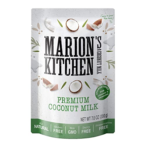 Premium Coconut Milk By Marion S Kitchen Bpa Free Non Gmo All Natural Unsweetened Dairy Free 12 Pack