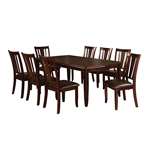 9 Piece Dining Room Table And Chair Set, Dining Room Table With 8 Chairs