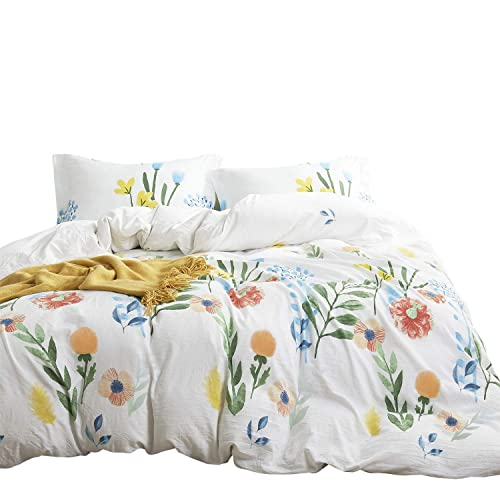 Geometric Comforter Set Abstract Triangle Modern Pattern Printed 3pcs, Twin Size 100/% Cotton Fabric with Soft Microfiber Fill Bedding Wake In Cloud