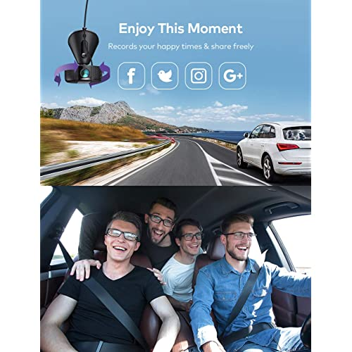 Dash Cam Support 256GB Max Loop Recording Dashboard Camera Recorder with Parking Mode VAVA 4K 3840X2140@30Fps Wi-Fi Car Dash Camera with Sony Night Vision Sensor Renewed G-Sensor