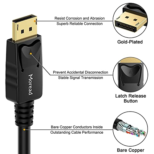 DP to DP Cable 16.5 Feet CableCreation DisplayPort to DisplayPort Gold Plated Support 4K 60Hz Resolution 5M // Black